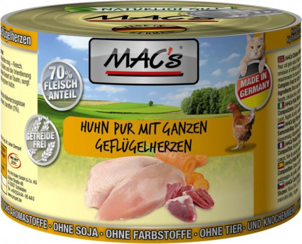 MACs Cat Huhn mit ganzen Gefl.herzen 200g