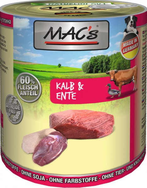 MACs Dog Kalb & Ente 800g