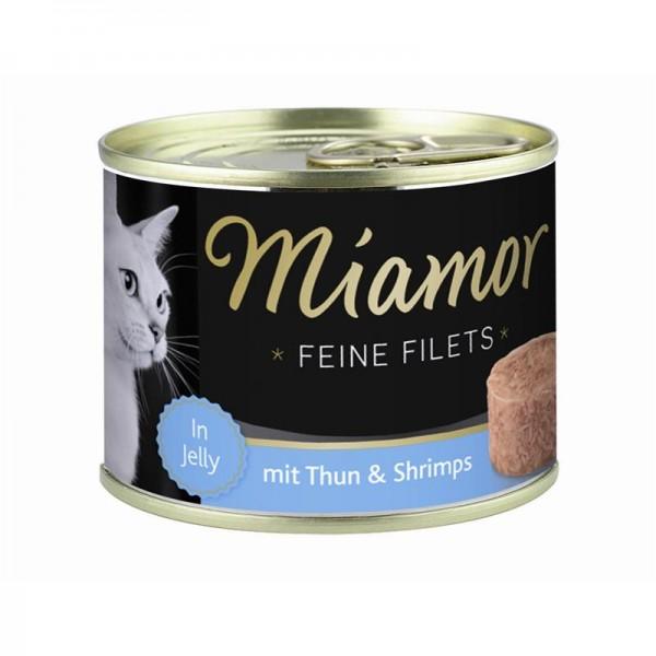 Miamor Dose Feine Filets Thunfisch & Shrimps 185g