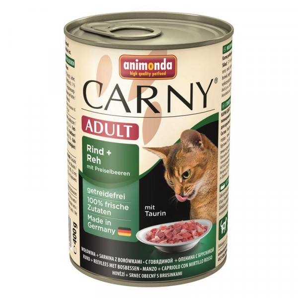 Animonda Carny Adult Rind & Reh & Preiselbeeren 400g