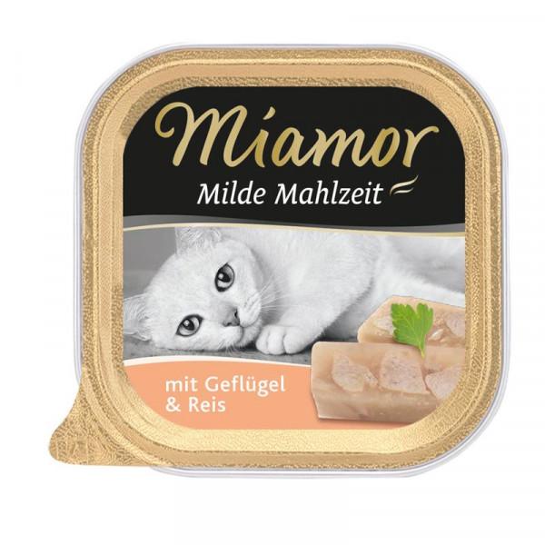 Miamor Schale Milde Mahlzeit Geflügel & Reis 100g