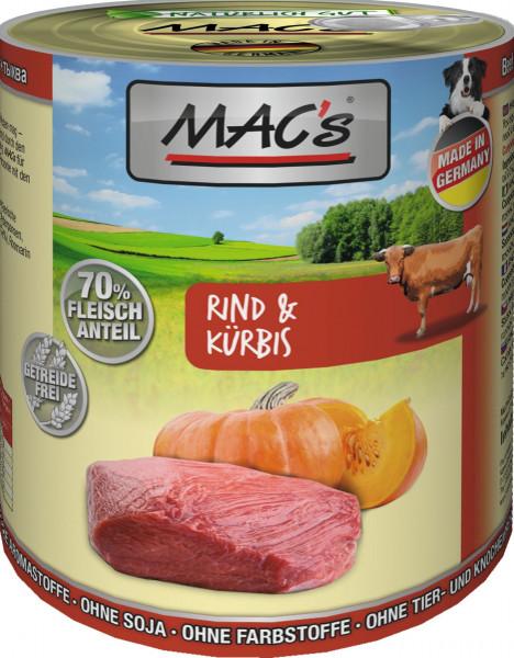 MACs Dog Rind & Kürbis 800g