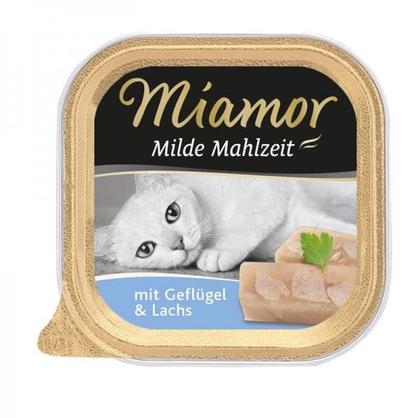 Miamor Schale Milde Mahlzeit Geflügel & Lachs 100g