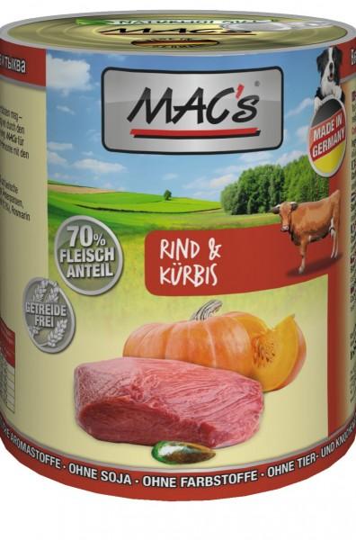 MACs Dog Rind & Kürbis 400g