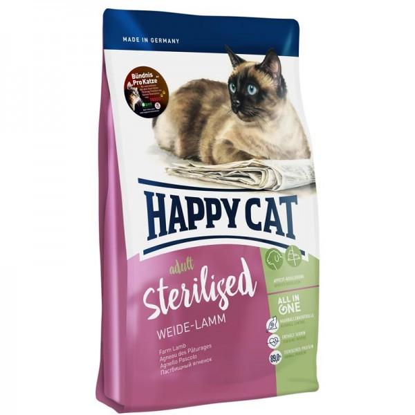 Happy Cat Supreme Sterilised Weide-Lamm 10kg