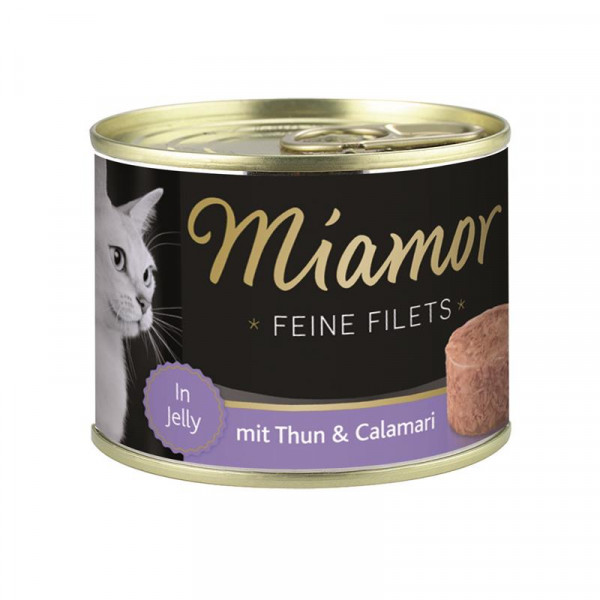 Miamor Dose Feine Filets Thunfisch & Calamari 185g