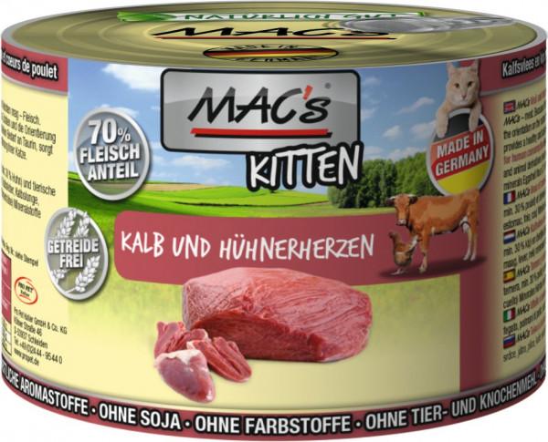 MACs Cat Kitten Kalb & Hühnerherzen 200g