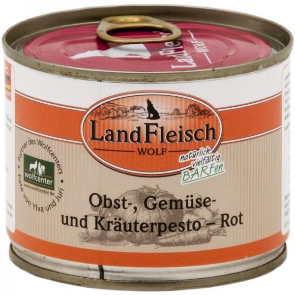 LandFleisch Wolf Obst-, Gemüse und Kräuterpesto Rot 200g