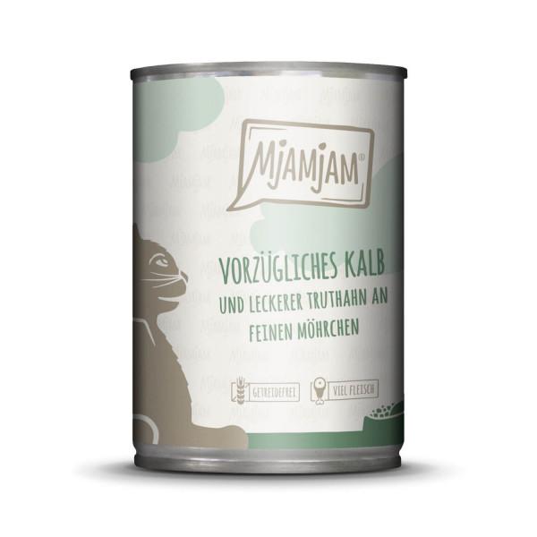 MjAMjAM - vorzügliches Kalb & Truthahn an leckeren Möhrchen 400 g
