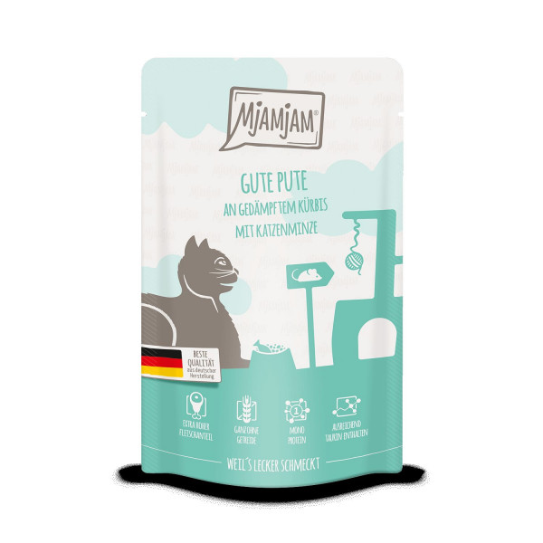 MjAMjAM - Quetschie - gute Pute an gedämpftem Kürbis 125 g