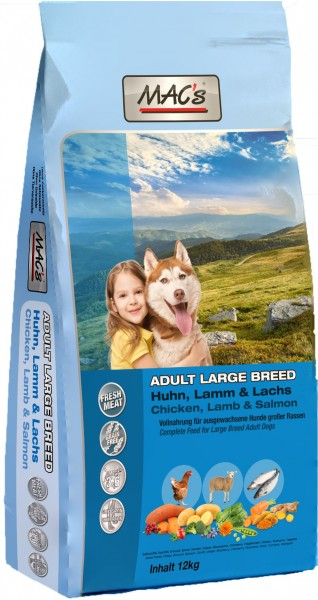 MACs Dog Adult Large Breed 12 kg