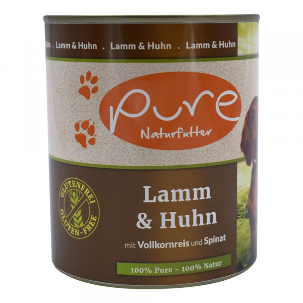 PURE Dog Lamm+Huhn GluFr 800g