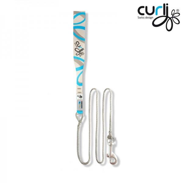 Curli Ultra Strong Pocket Leine Weiß-blau 160 cm