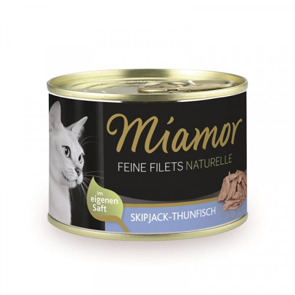 Miamor Dose Feine Filets Naturelle Skipjack-Thunfisch 156g