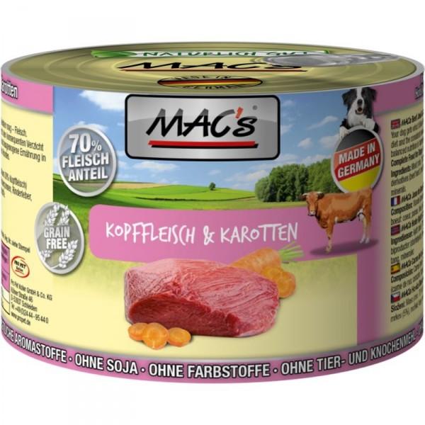 MACs Dog Kopffleisch & Karotten 200g