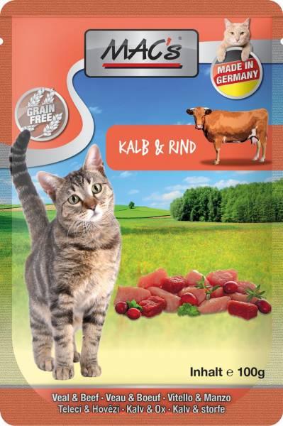 MACs Cat Pouch Pack Kalb & Cranberry 100g