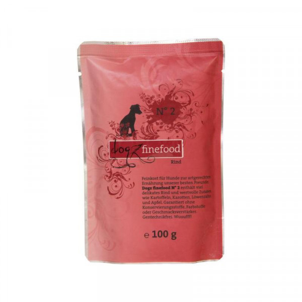 Dogz finefood Beutel No. 2 Rind 100g