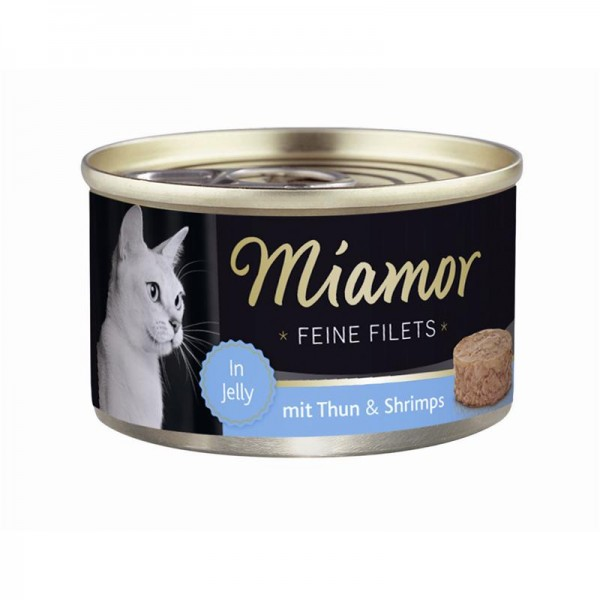 Miamor Dose Feine Filets Heller Thunfisch & Shrimps 100g