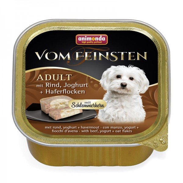 Animonda vom Feinsten Schlemmerkern mit Rind, Joghurt & Haferflocken 150g