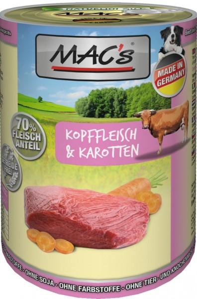 MACs Dog Kopffleisch & Karotten 400g