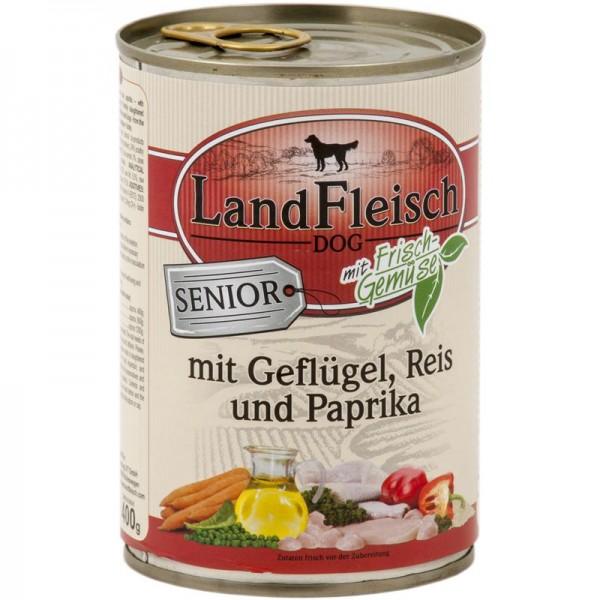 Landfleisch Dog Senior Geflügel, Reis & Paprika 400g