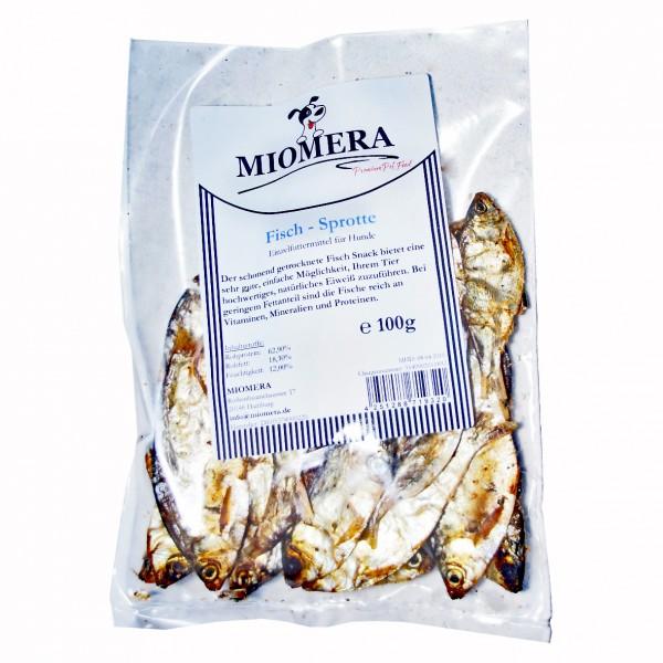MIOMERA Dog Snack Fisch Sprotten getrocknet 100g