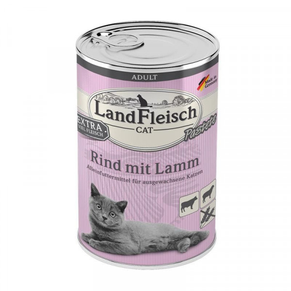LandFleisch Cat Adult Pastete Rind & Lamm 400 g