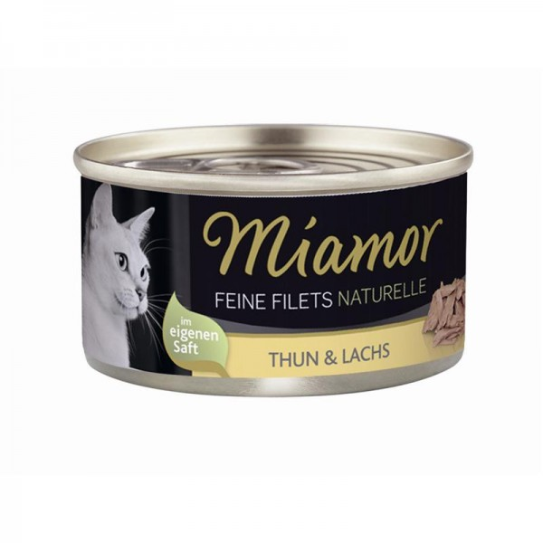 Miamor Feine Filets Naturelle Thunfisch & Lachs 80g