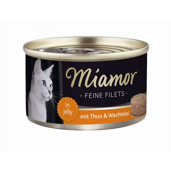 Miamor Dose Feine Filets Thunfisch & Wachtelei 100g