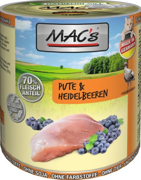 MACs Cat Pute & Heidelbeeren 800g
