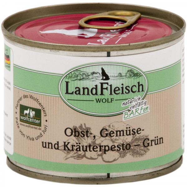 LandFleisch Wolf Obst-, Gemüse und Kräuterpesto Grün 200g