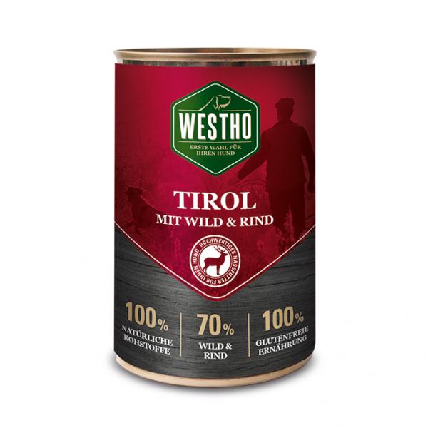 Westho Dog Dose Tirol Wild & Rind 400g