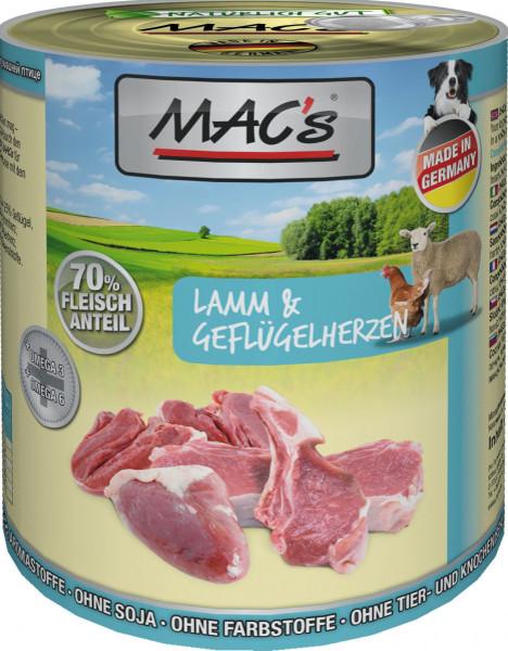 MACs Dog Lamm & Geflügelherzen 800g