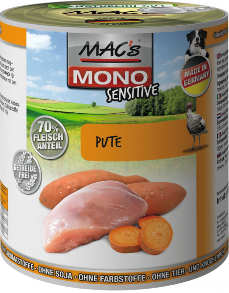 MACs Dog Mono Sensitive Pute 800g
