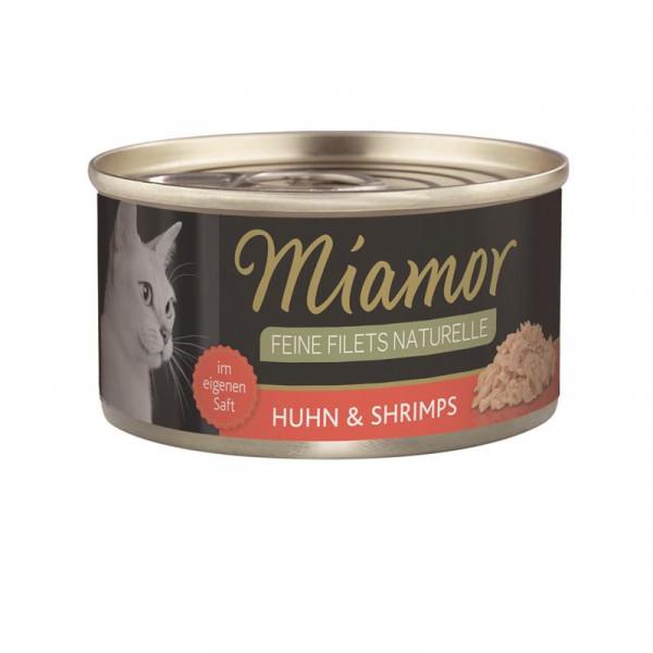 Miamor Feine Filets Naturelle Huhn & Shrimps 80g