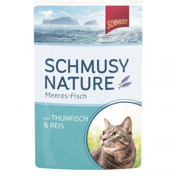 Schmusy Nature Meeres-Fisch FB Thunfisch & Reis 100g