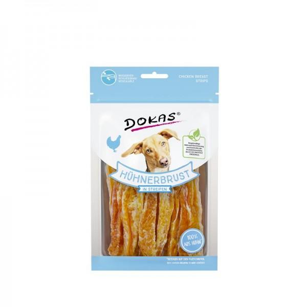 Dokas Hundesnack Hühnerbrust in Streifen 70g