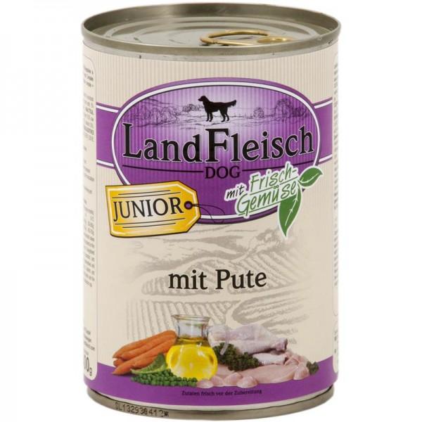 Landfleisch Dog Junior Pute mit Frisch-Gemüse 400g