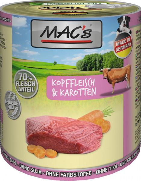MACs Dog Kopffleisch & Karotten 800g