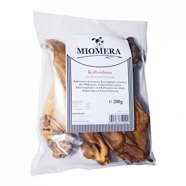 MIOMERA Dog Snack Kalbsohren 200g