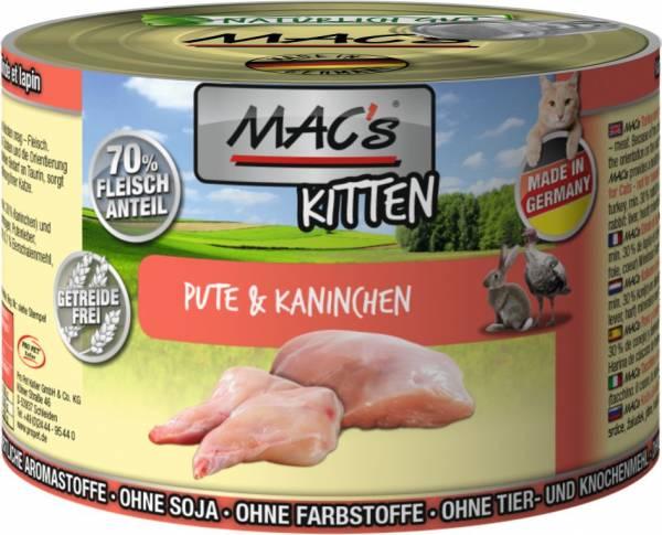 MACs Cat Kitten Pute & Kaninchen 200g