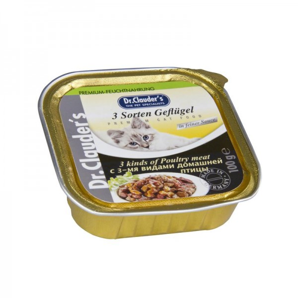 Dr. Clauders Cat 3Gefl.Mix Sosse 100g