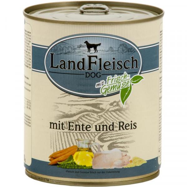 LandFleisch Dog Pur Ente & Reis mit Frisch-Gemüse 800g