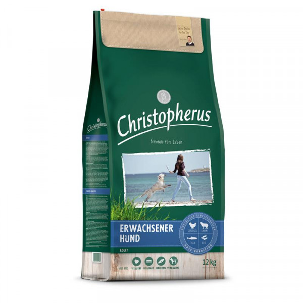 Christopherus Erwachsener Hund Geflügel,Lamm, Ei & Reis 2 x 12kg Spardoppelpack