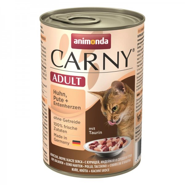 Animonda Cat Dose Carny Adult Huhn & Pute & Entenherzen 400g