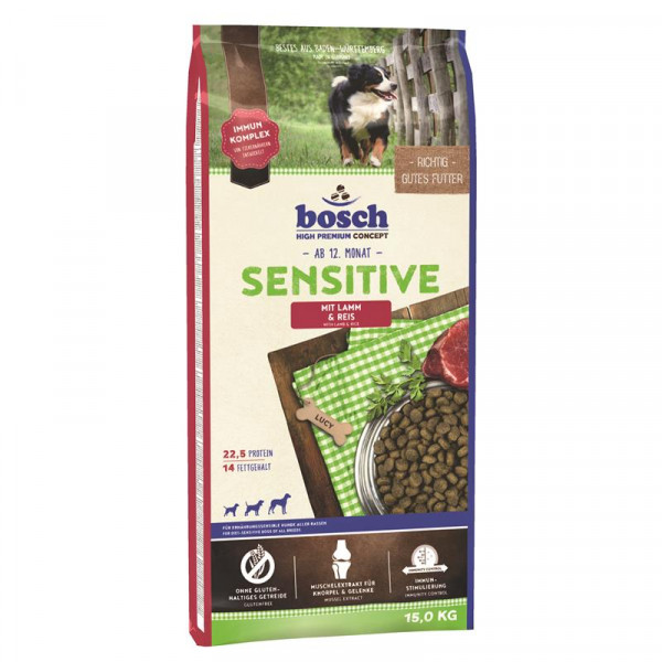 Bosch Sensitive Lamm & Reis 15 kg