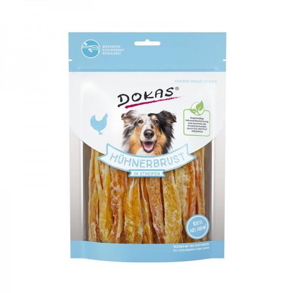 Dokas Hundesnack Hühnerbrust in Streifen 250g