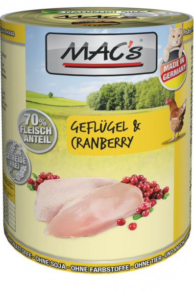 MACs Cat Geflügel & Cranberry 400g
