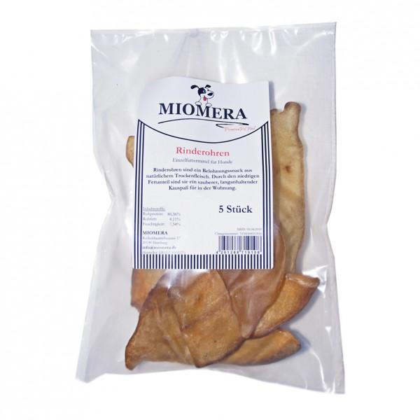MIOMERA Dog Snack Rinderohren 5er
