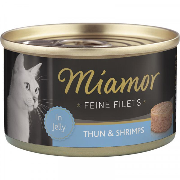 Miamor Dose Feine Filets Heller Thunfisch & Shrimps 100g